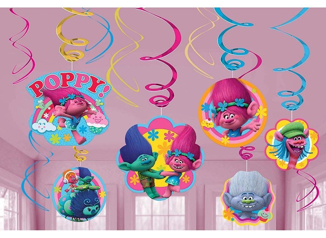 Trolls Hanging Swirl Decorations