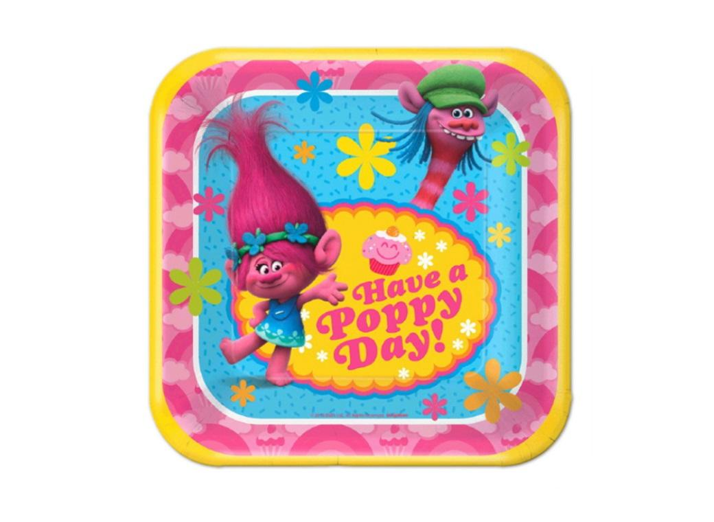 Trolls Lunch Plates - 8pk
