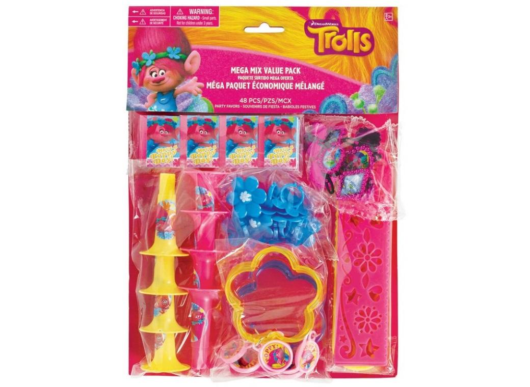 Trolls Mega Value 48pce Favour Pack