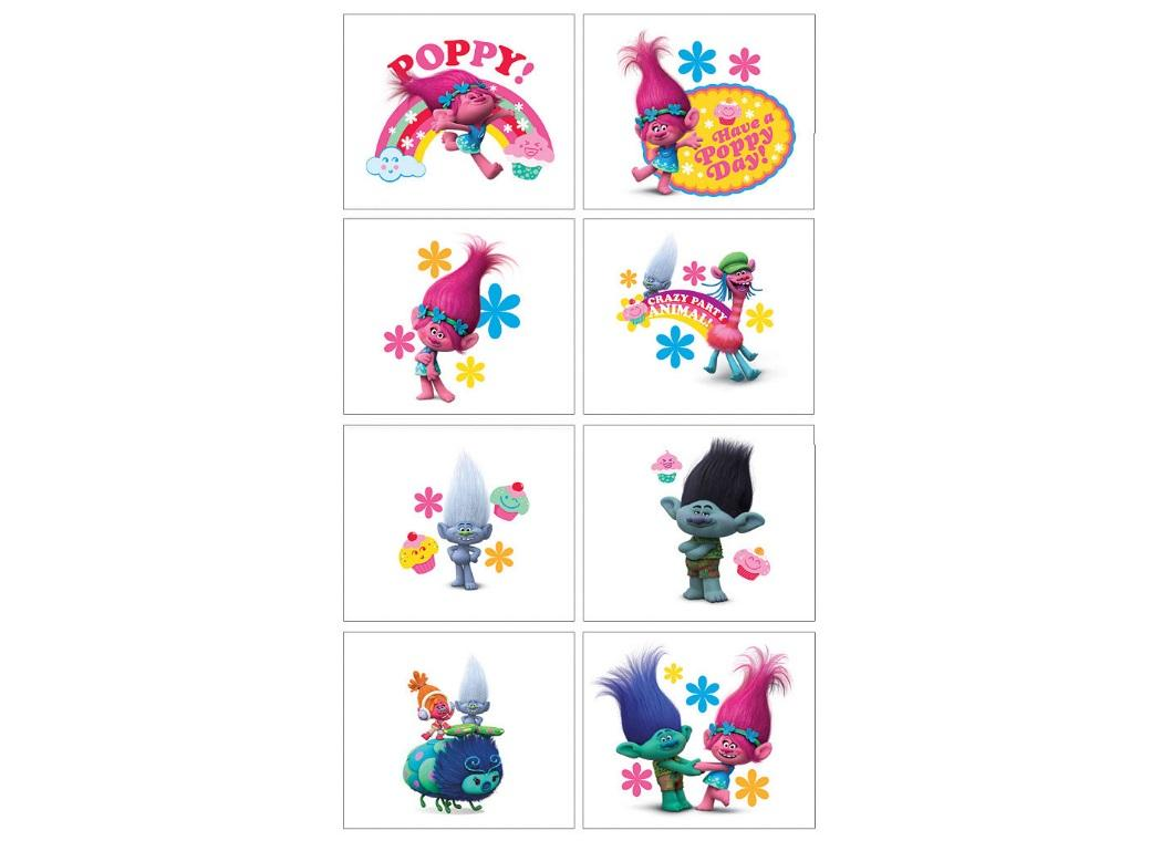 Trolls Temporary Tattoos