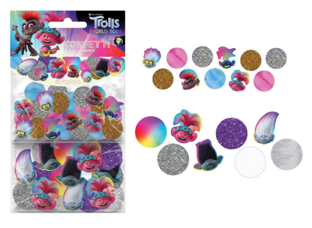 Trolls World Tour Giant Confetti Circles