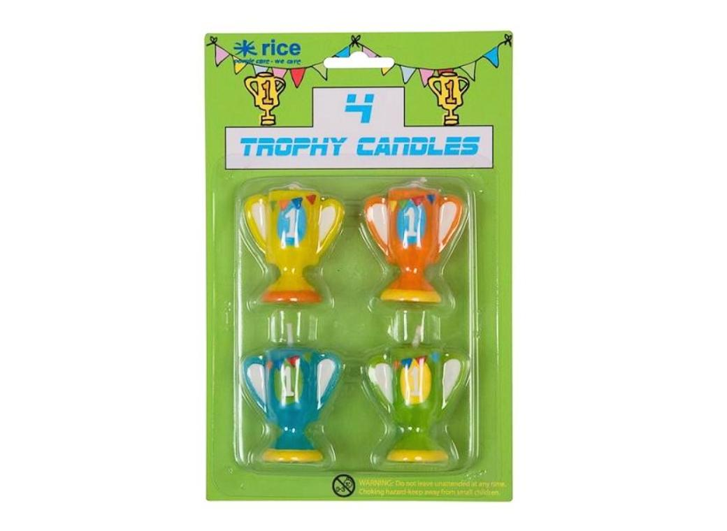Trophy Candles 4pk