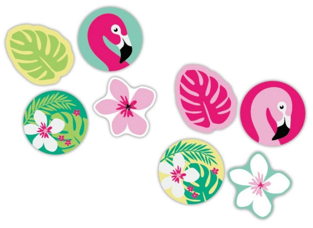 Tropical Erasers 4pk