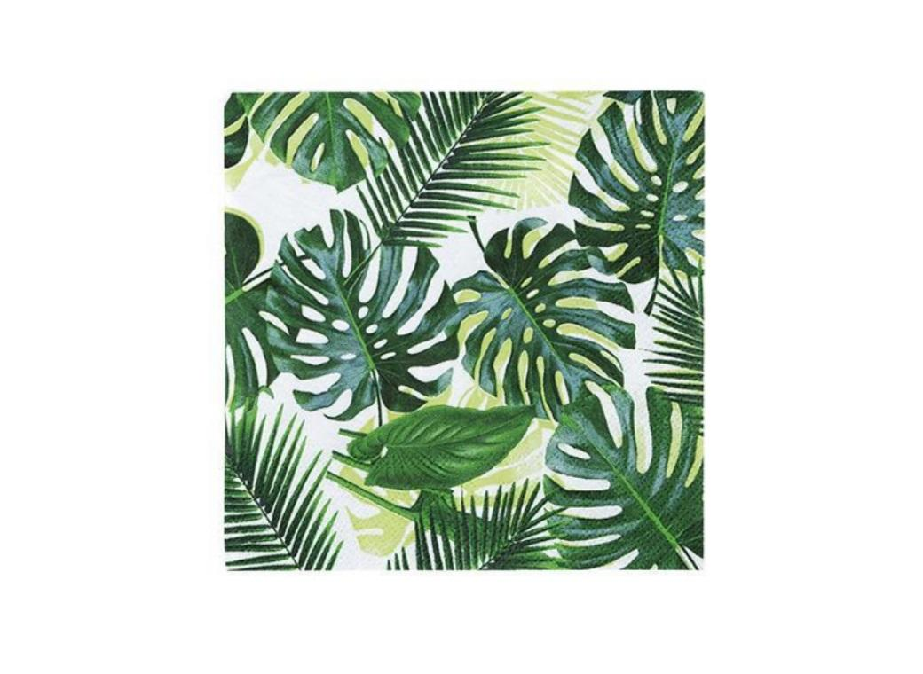 Tropical Fiesta Palm Beverage Napkins 20pk