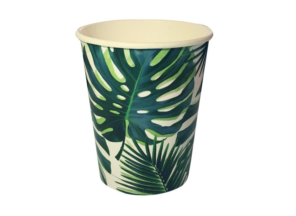 Tropical Fiesta Palm Cups 8pk
