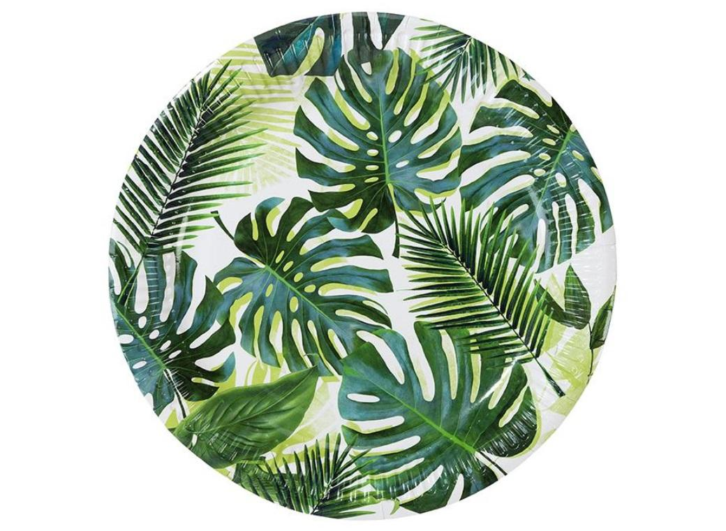 Tropical Fiesta Palm Plates 8pk