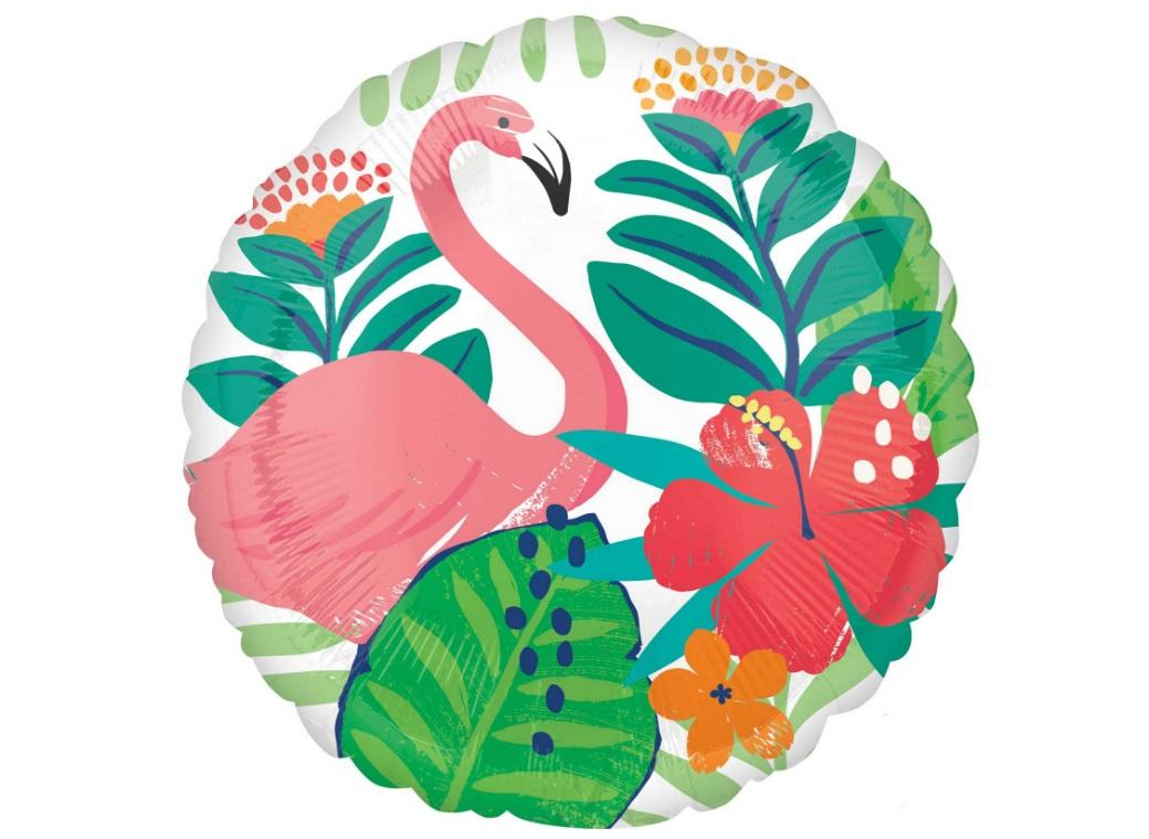 Tropical Flamingo Foil Balloon
