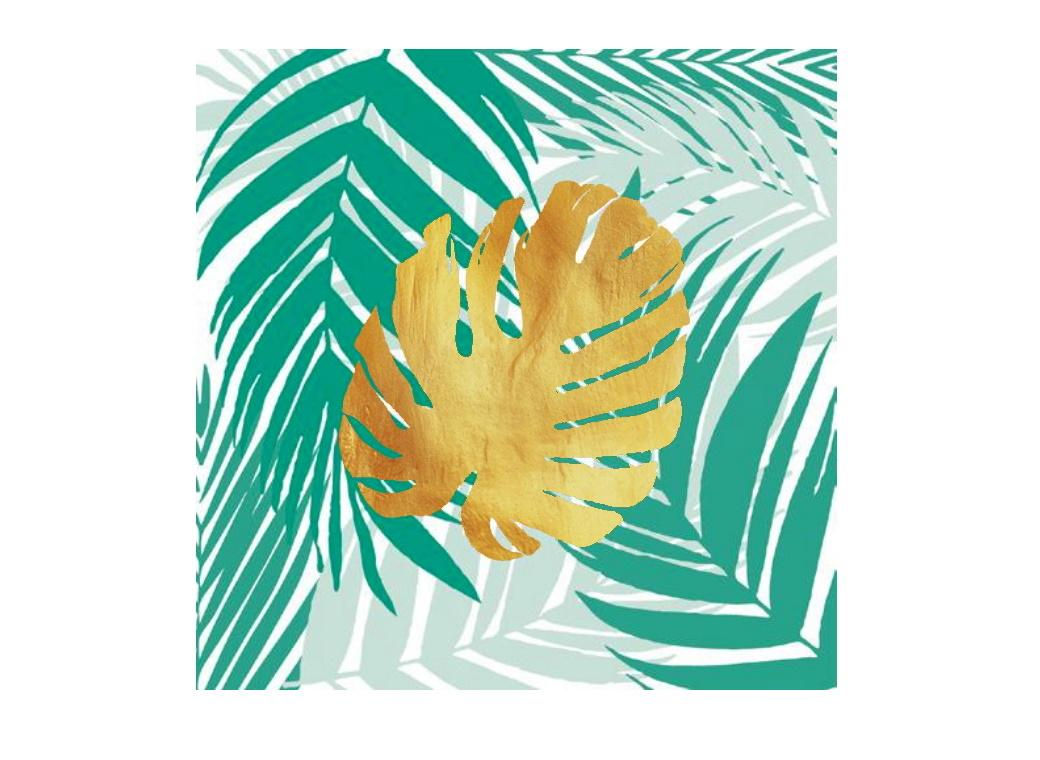 Tropical Gold Lunch Napkins 20pk