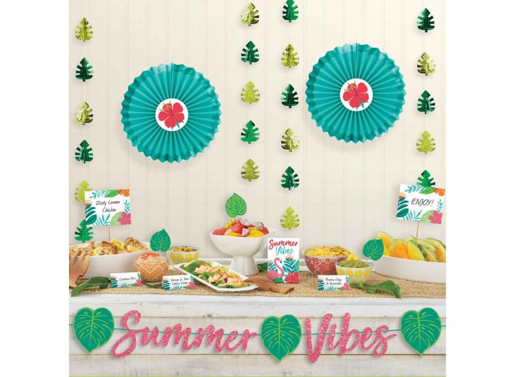 Tropical Jungle Deluxe Buffet Decorating Kit