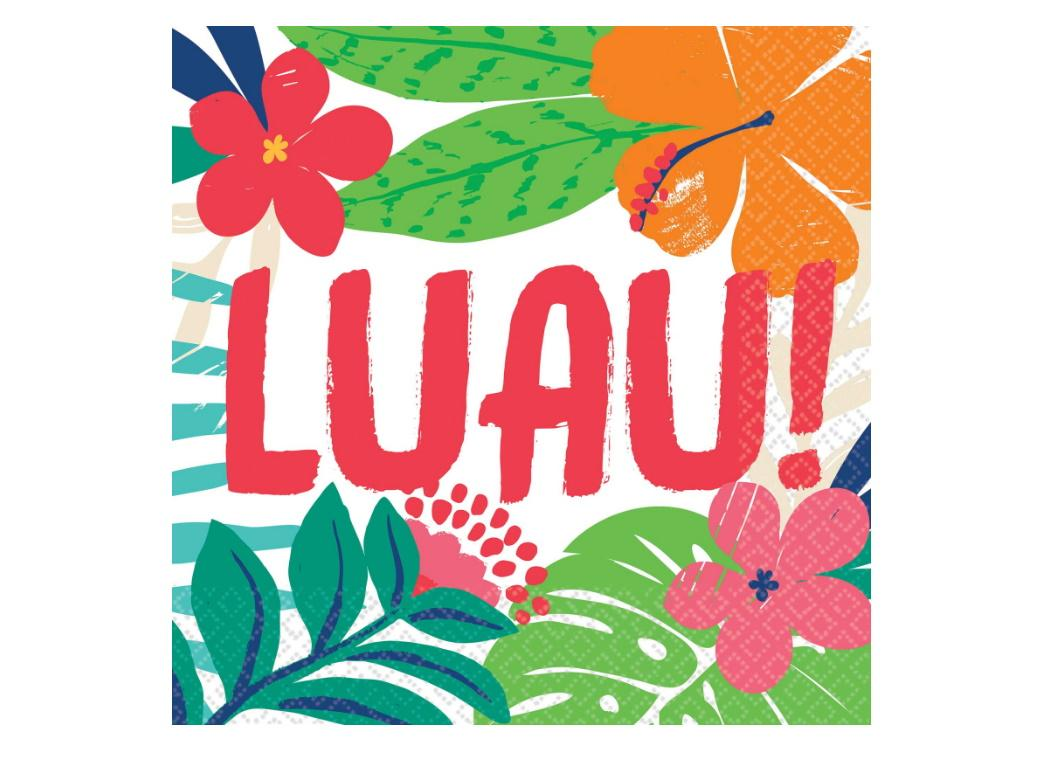 Tropical Jungle Luau Lunch Napkins 36pk