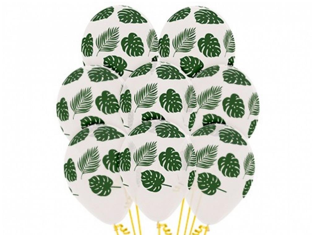 Tropical Leaves Balloons 12pk