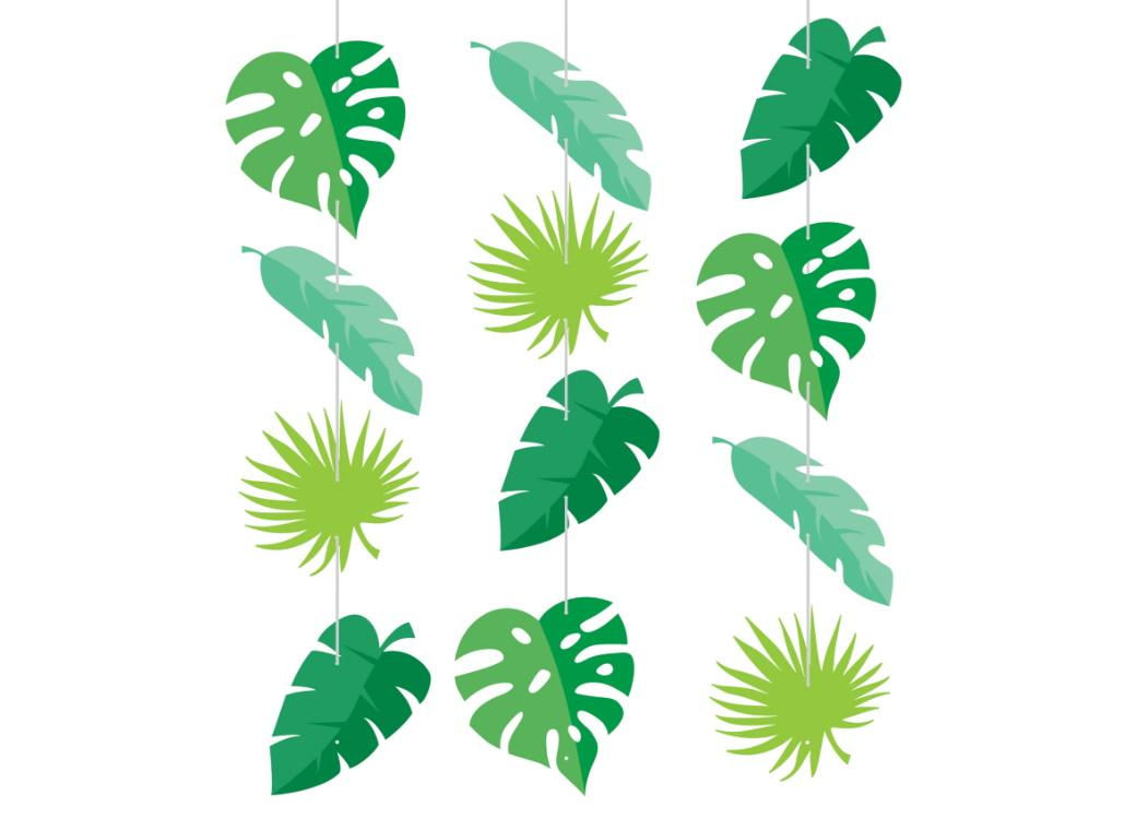 Tropical Leaves Hanging Cutouts
