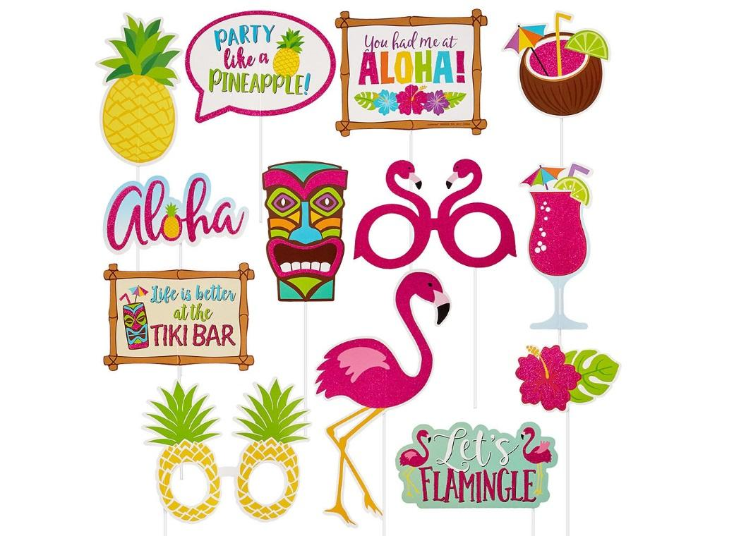 Tropical Luau Photo Props