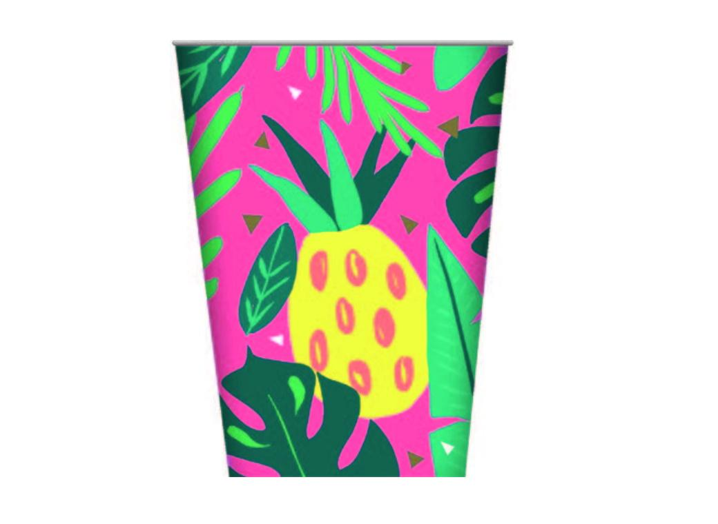 Tropical Party Cups 8pk