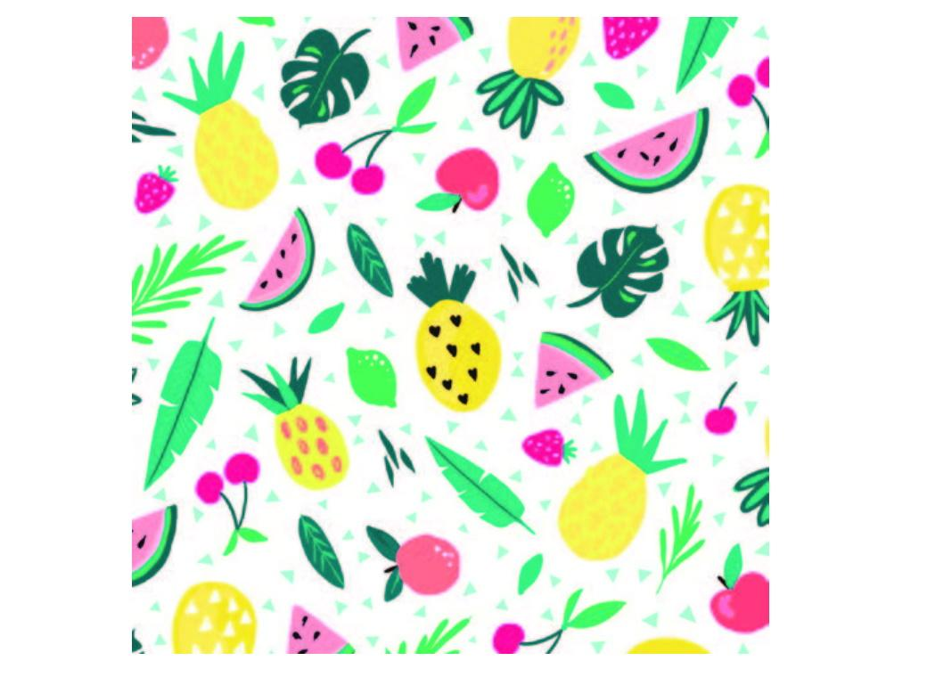 Tropical Fruit Party Napkins 20pk