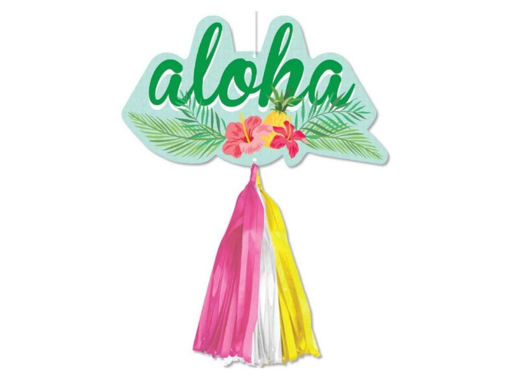 Tropical Party Sign with Tassels