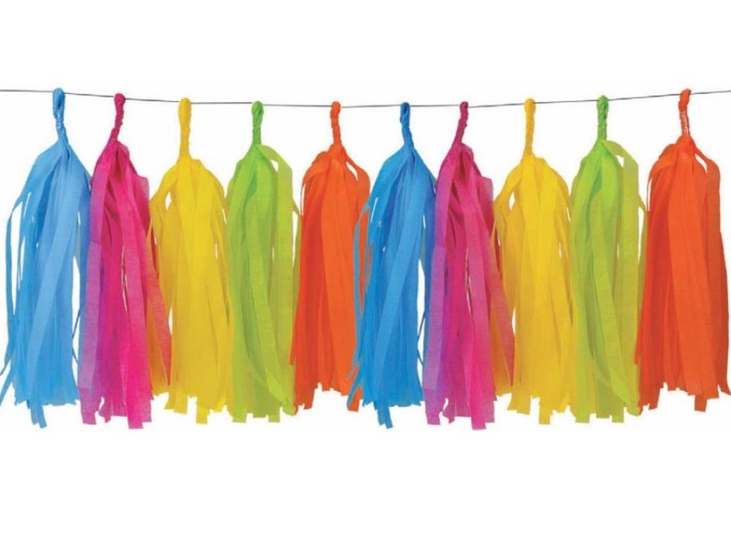 Tissue Tassel Party Garland - Tropical