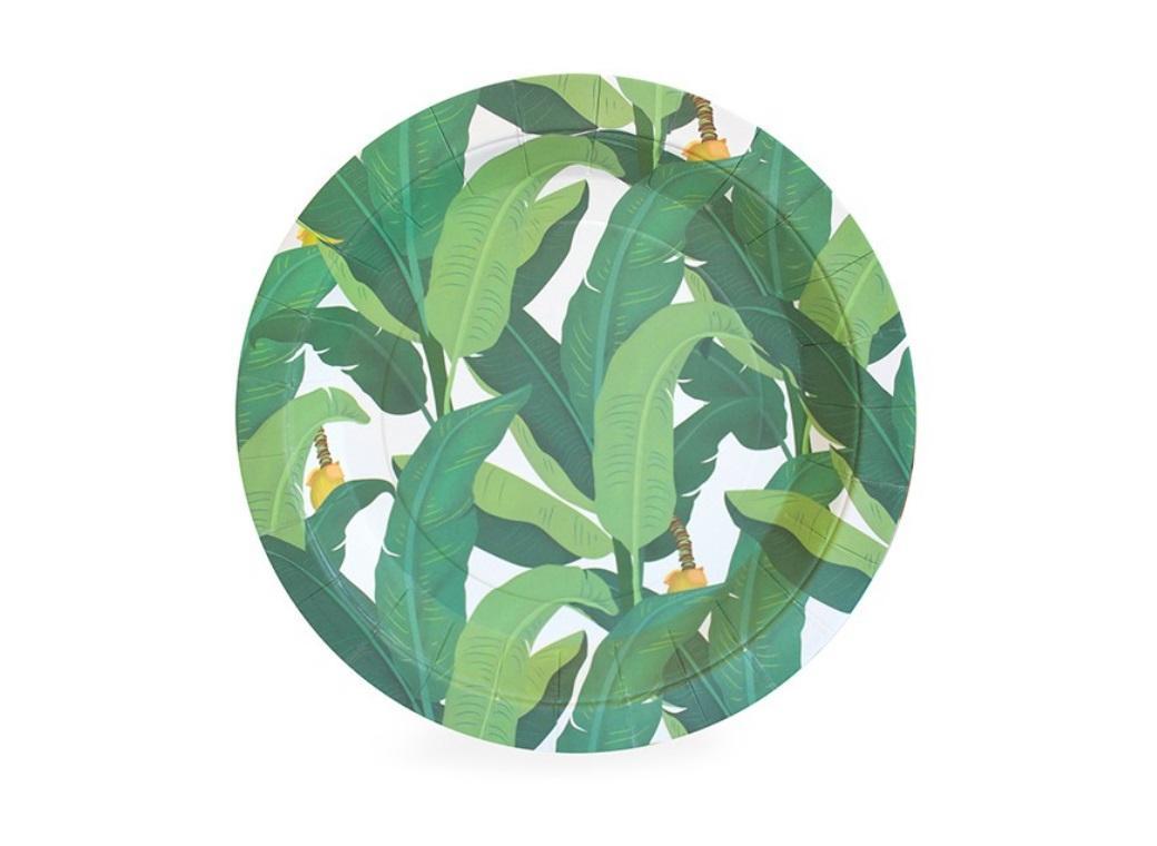 Paper Eskimo Dessert Plates - Troppo Leaf