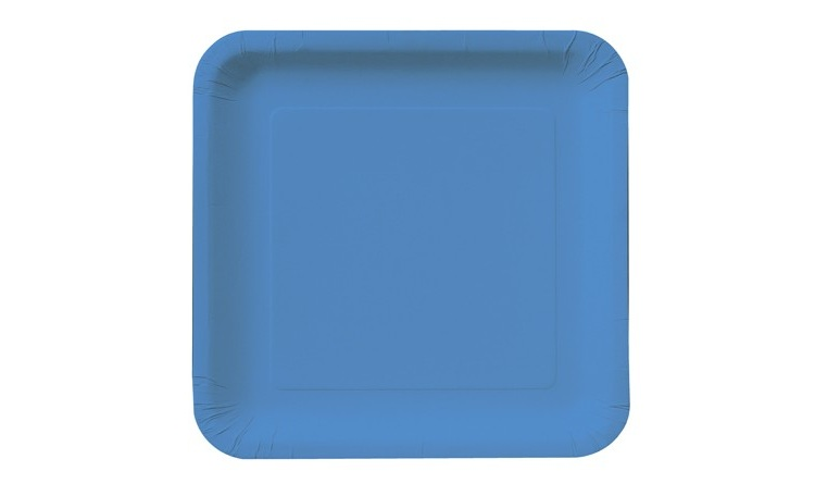 Lunch Plate Square - Blue 12pk