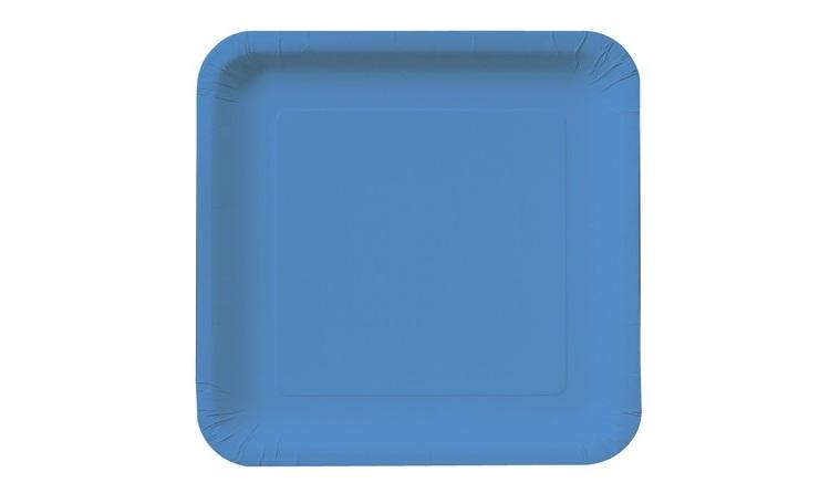 Dinner Plate Square - Blue 12pk