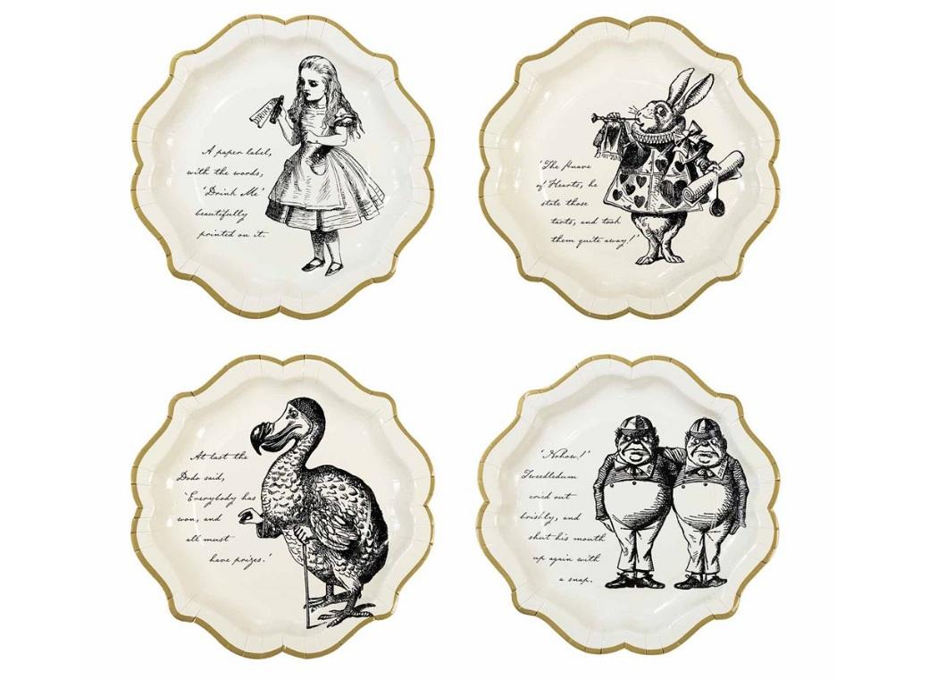 Truly Alice Medium Plates 12pk