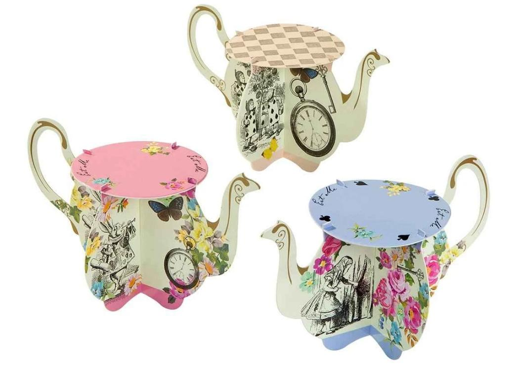 Truly Alice Teapot Cake Stands 6pk