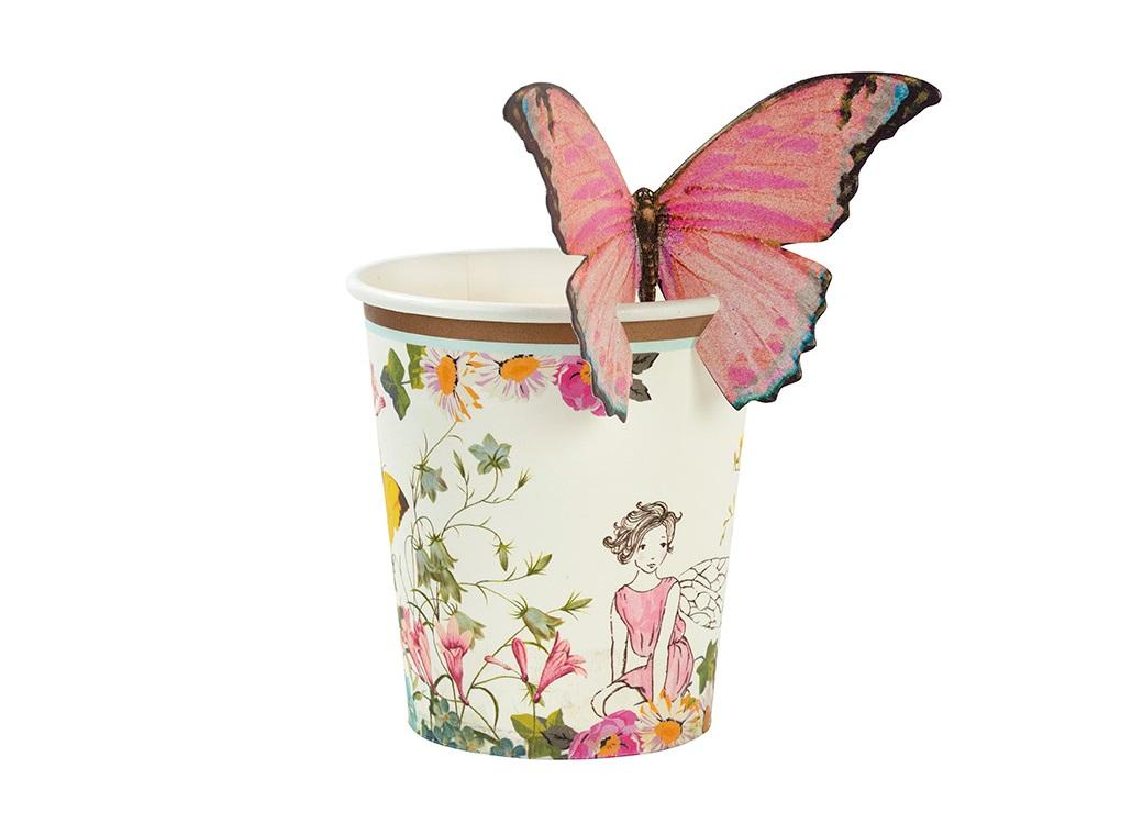 Truly Fairy Cups with Butterflies 12pk