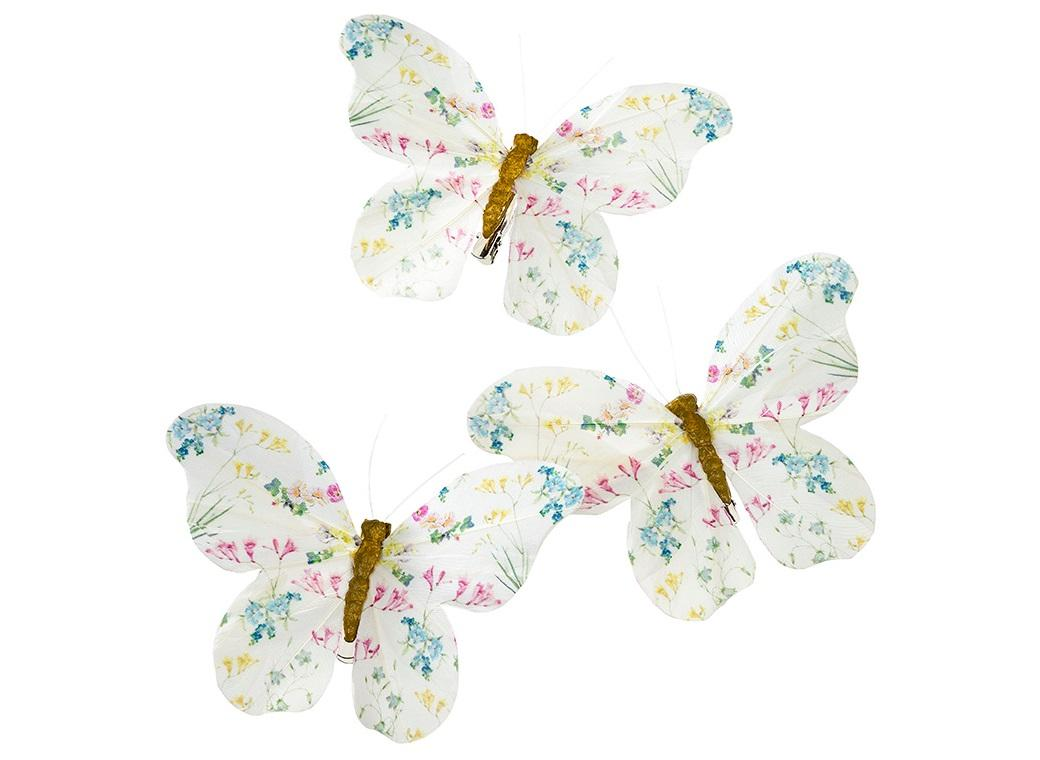 Truly Fairy Feather Butterfly Clips - 6pk