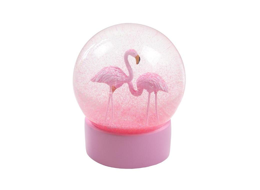 Truly Flamingo Snow Globe