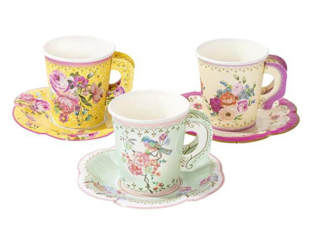 Truly Scrumptious Teacups & Saucers 12pk