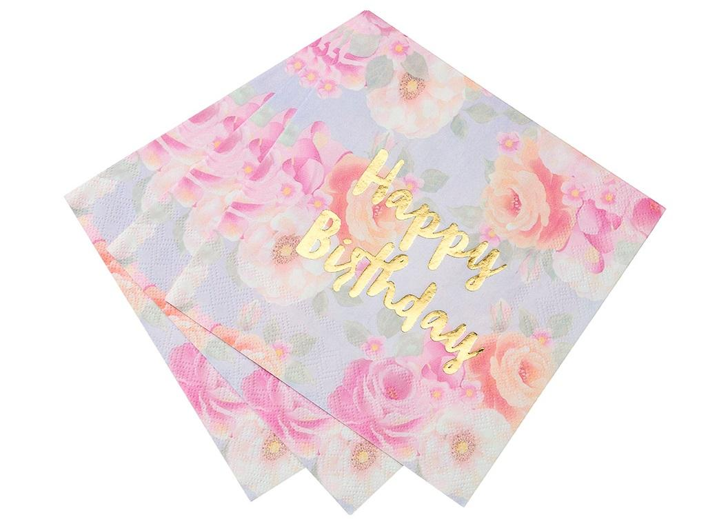 Truly Scrumptious Happy Birthday Napkins 16pk