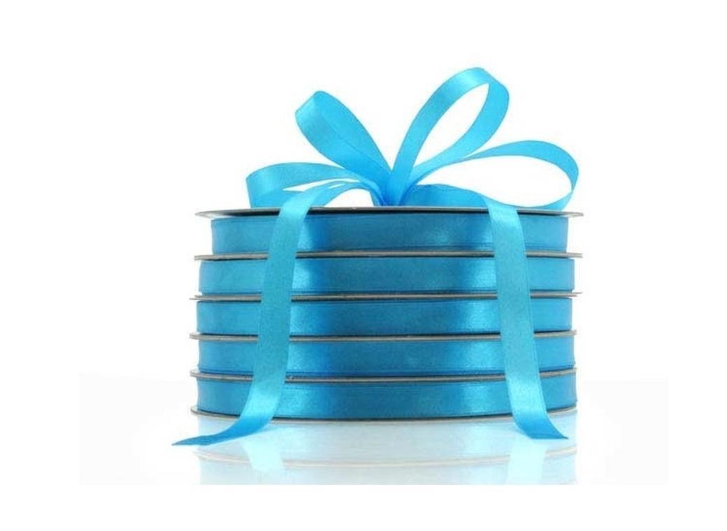 Satin Ribbon - Turquoise 12mm