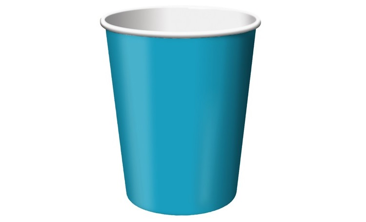 Paper Cups 12pk - Turquoise
