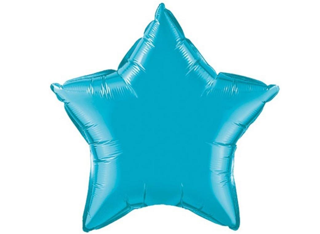 Star Shaped Foil Balloon - Turquoise