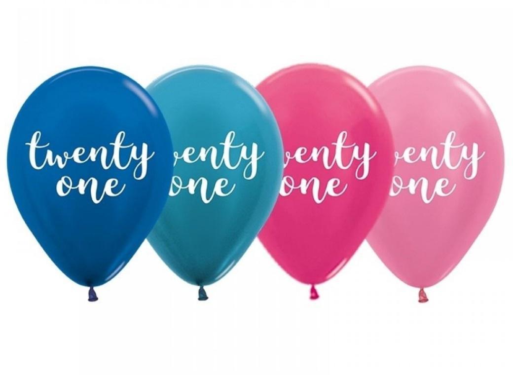 Pearl Twenty One Balloons 5pk