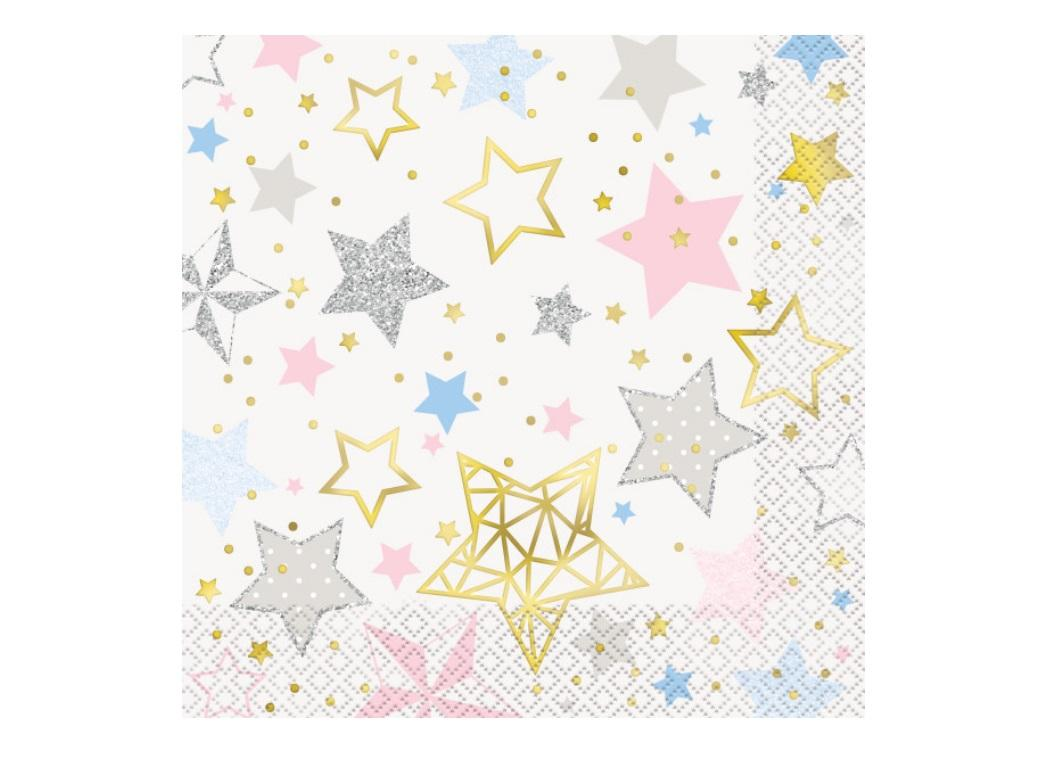 Twinkle Little Star Lunch Napkins 16pk