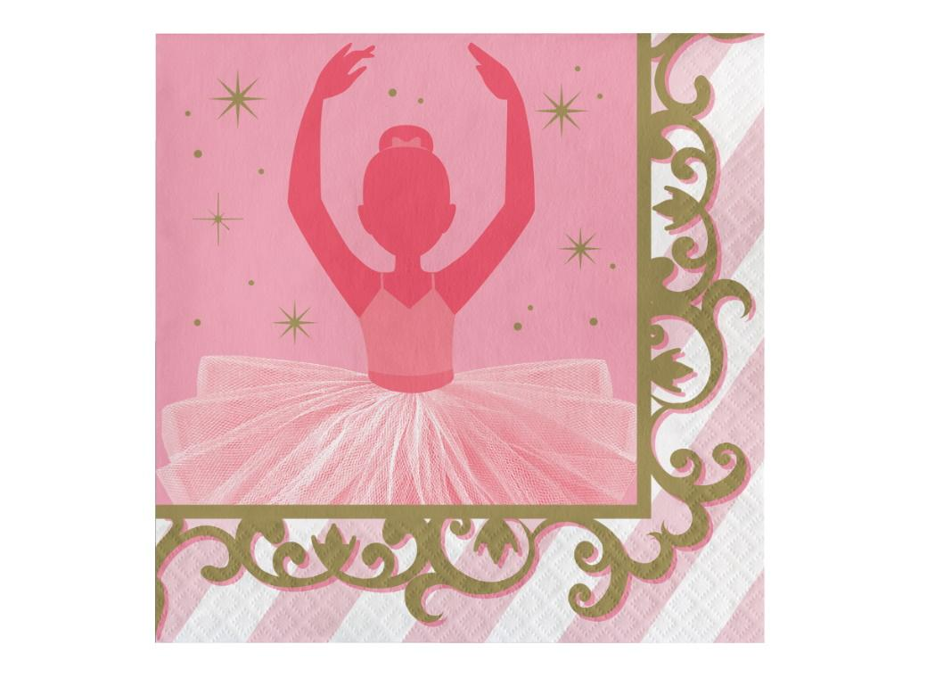 Twinkle Toes Ballerina Lunch Napkins 16pk