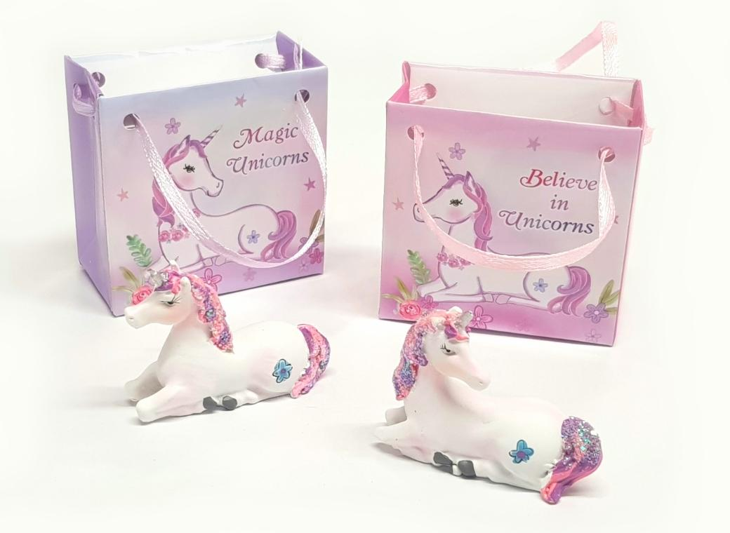 Unicorn Figurine in Mini Bag