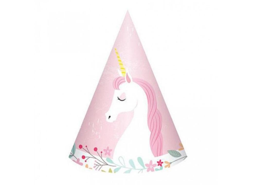 Unicorn Party Hats 8pk