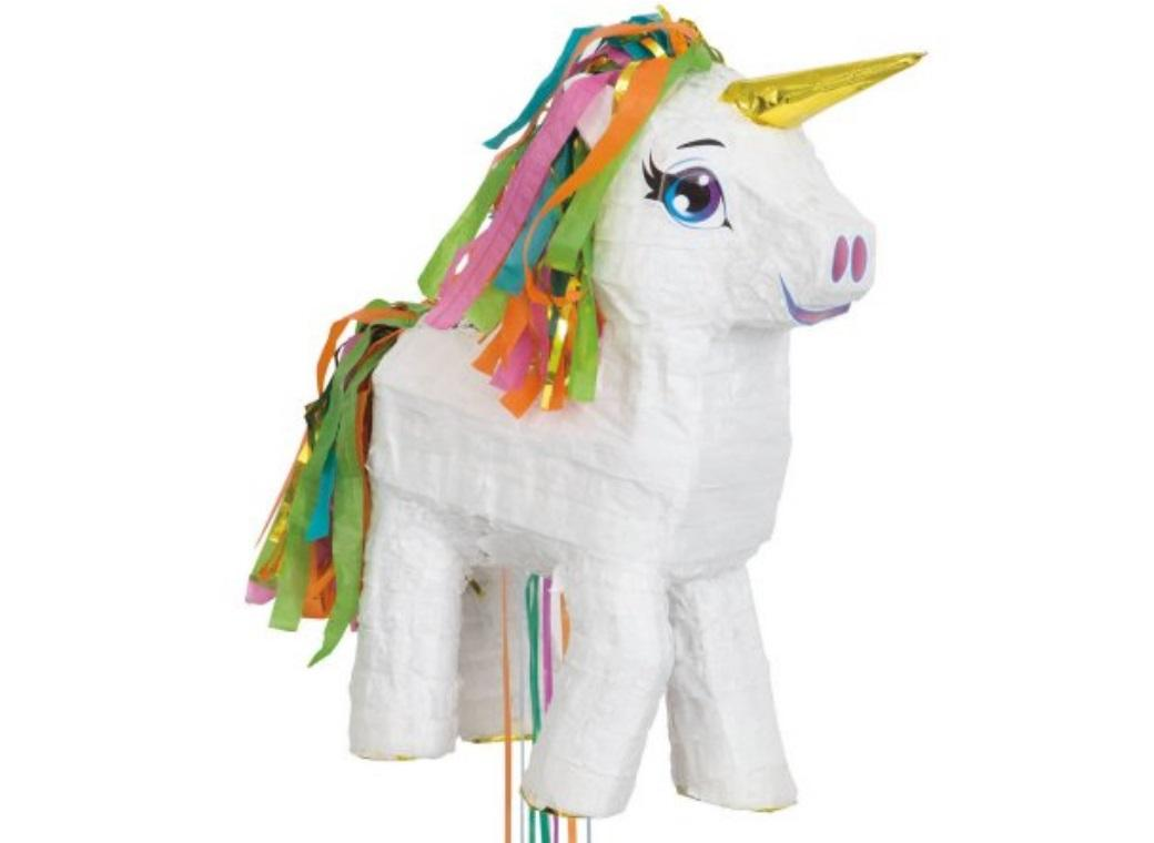 Unicorn Pull-String Pinata White