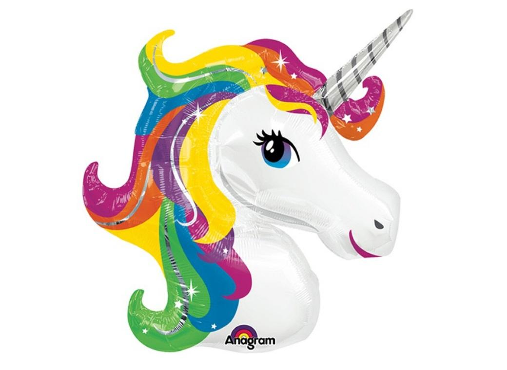 Unicorn Rainbow SuperShape Balloon