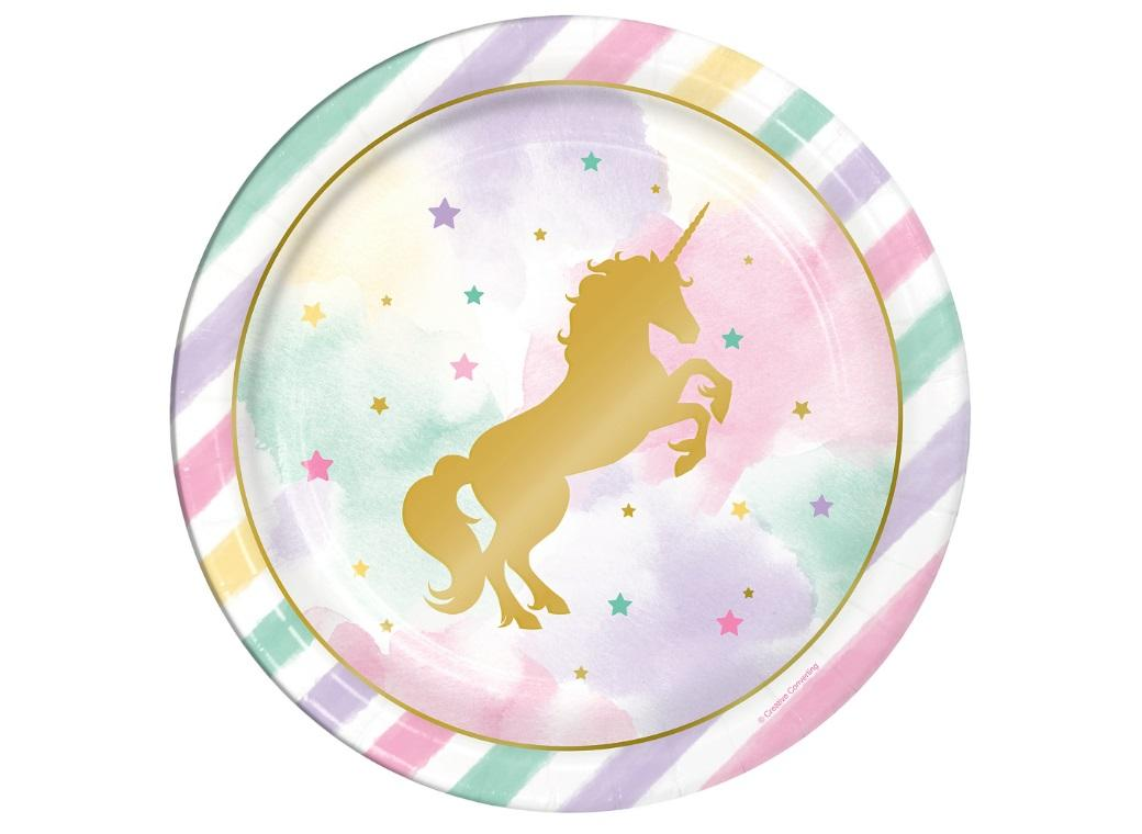 Unicorn Sparkle Dinner Plates 8pk