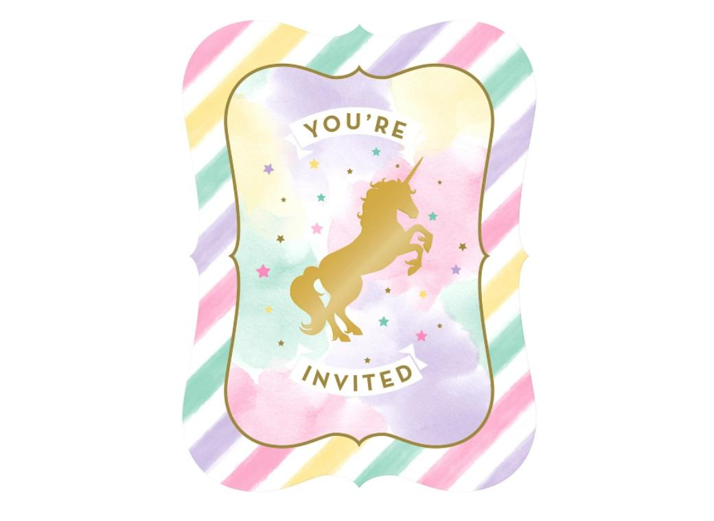 Unicorn Sparkle Invitations 8pk