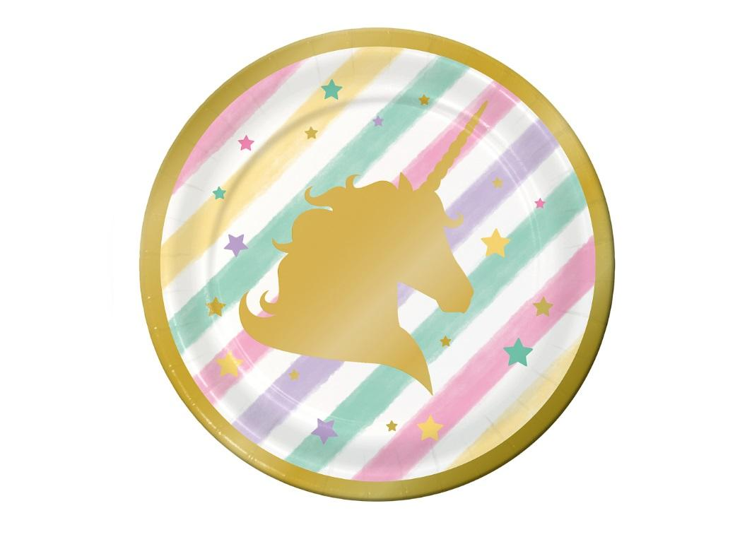 Unicorn Sparkle Lunch Plates 8pk