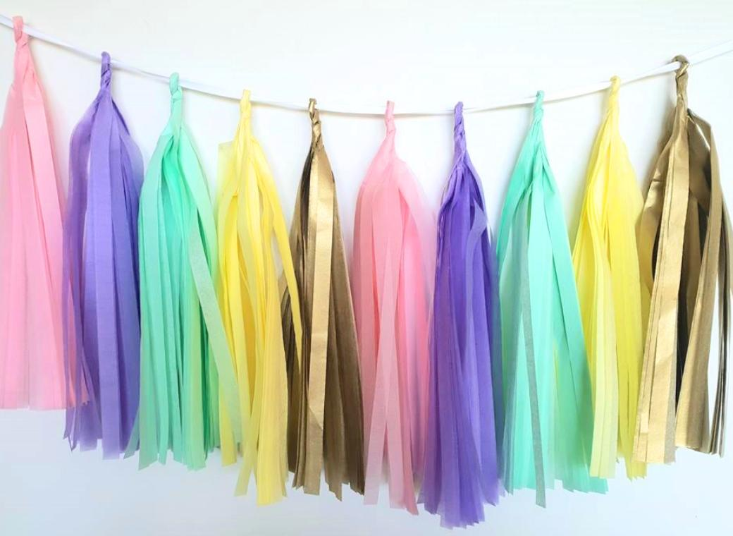 Tissue Tassel Garland - Unicorn