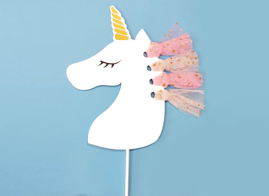 Unicorn Tassel Cake Topper