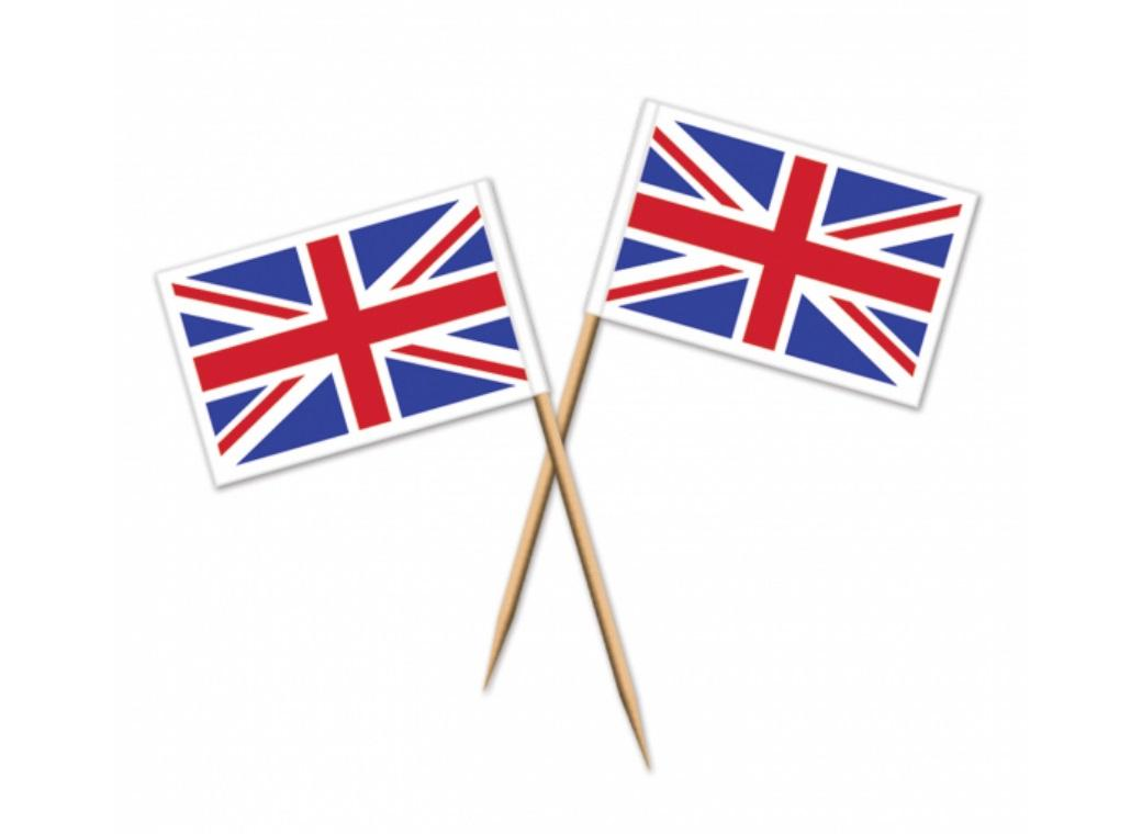 Union Jack Flag Picks 50pk