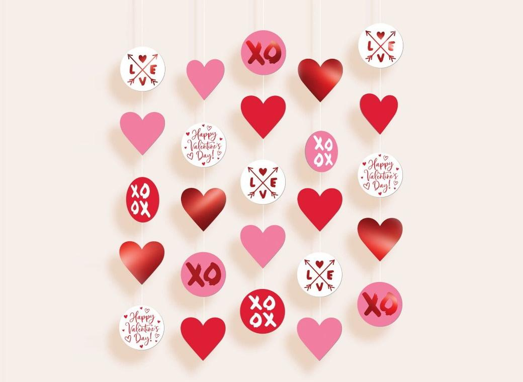 Valentine's Day Hanging String Decorations