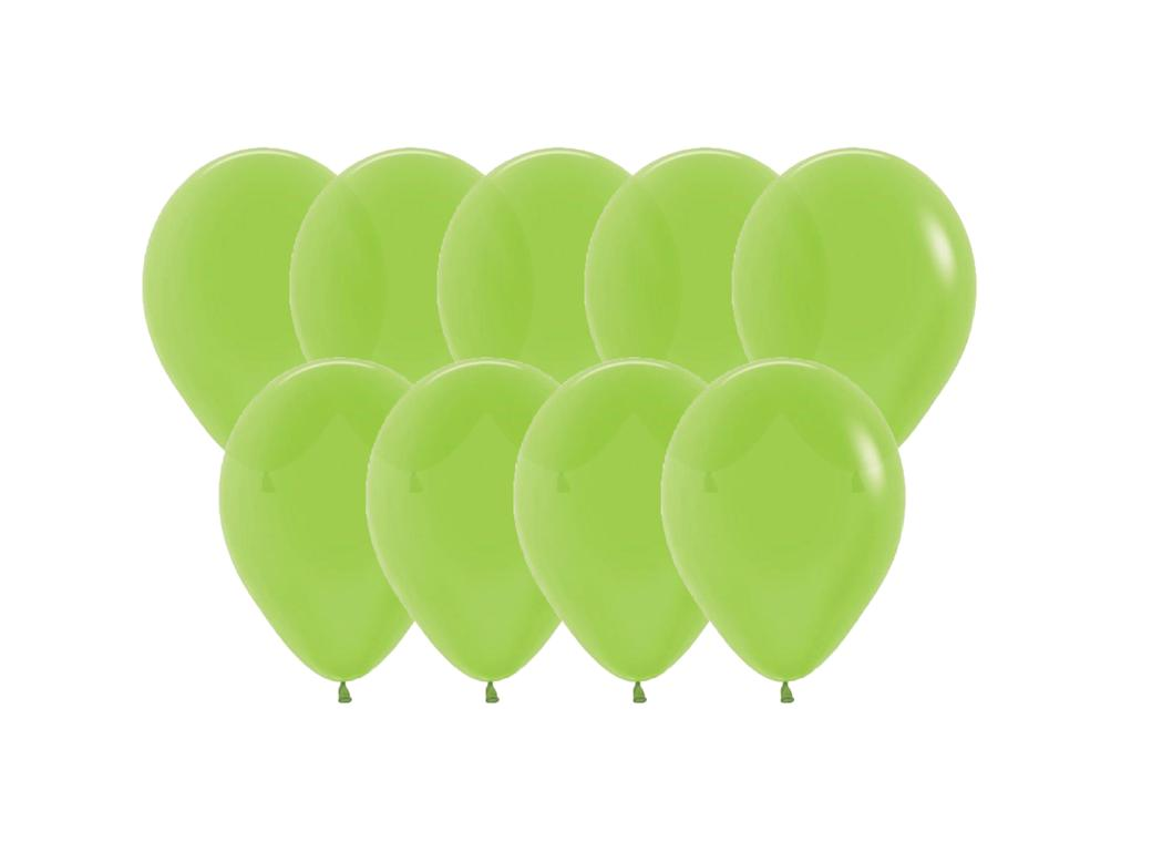 Value Mini Balloons 50PK - Kiwi Green