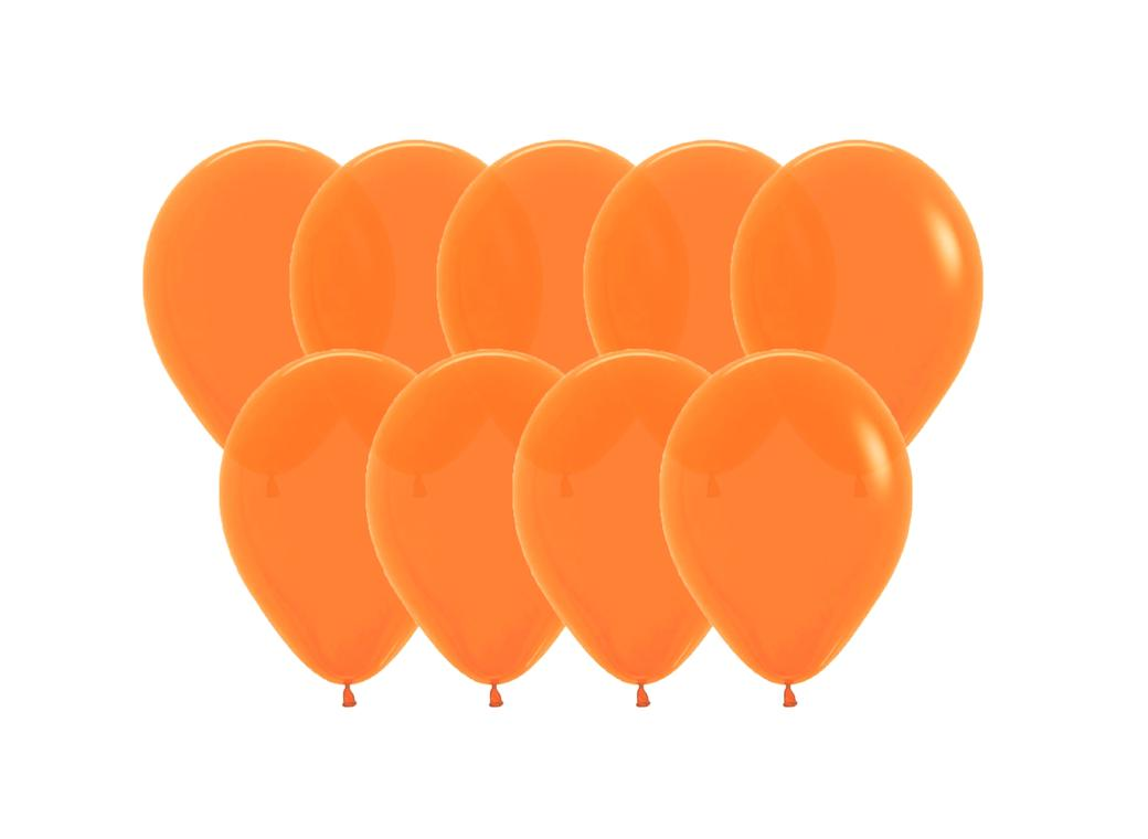 Value Mini Balloons 50PK - Orange
